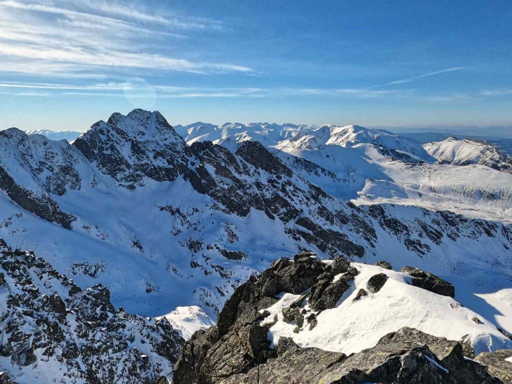 Skrajny Granat, wejście zimą
