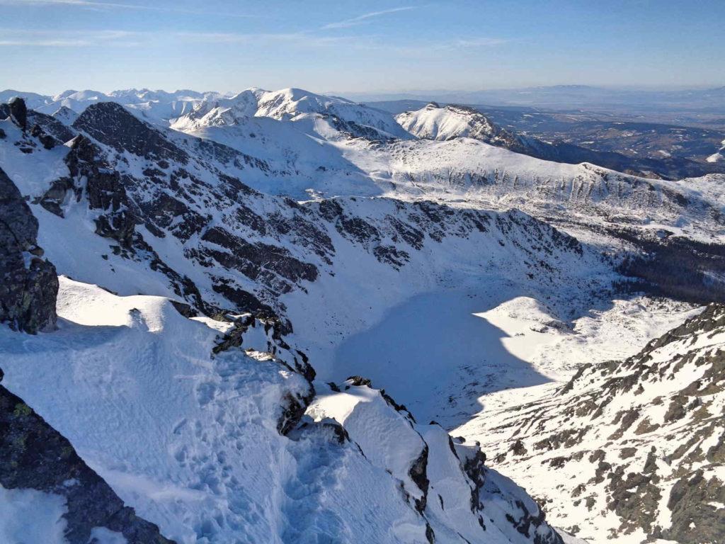 Skrajny Granat, zejście zimą