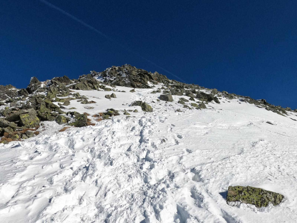 Wejście na Zadni Granat w zimie