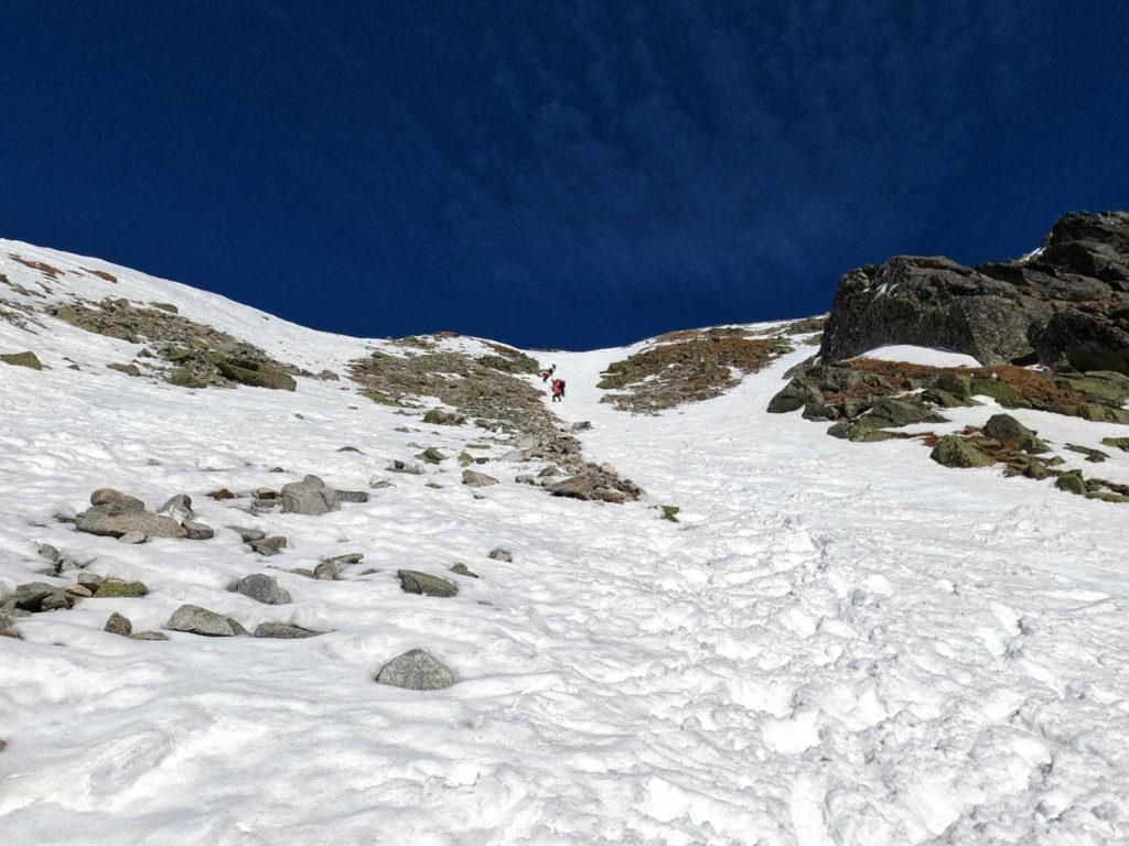 Zadni Granat, wejście w zimie