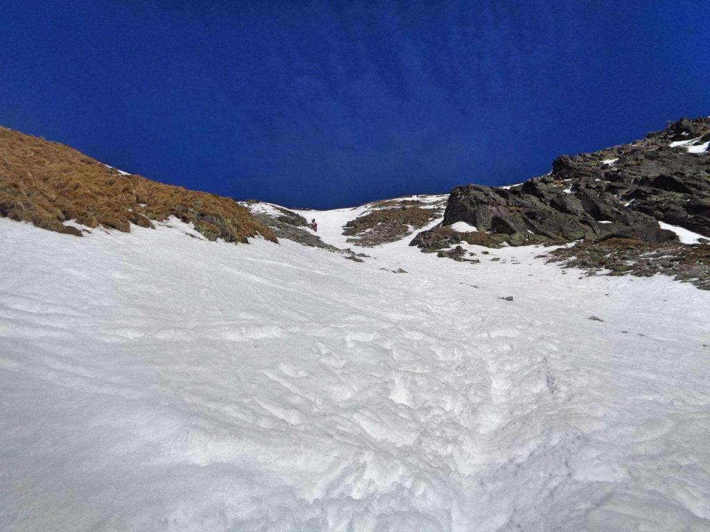 Zadni Granat, wejście zimą