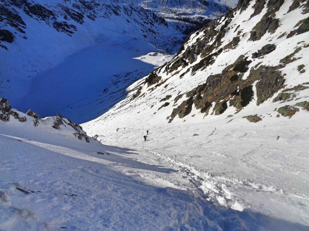 Zejście ze Skrajnego Granatu w zimie