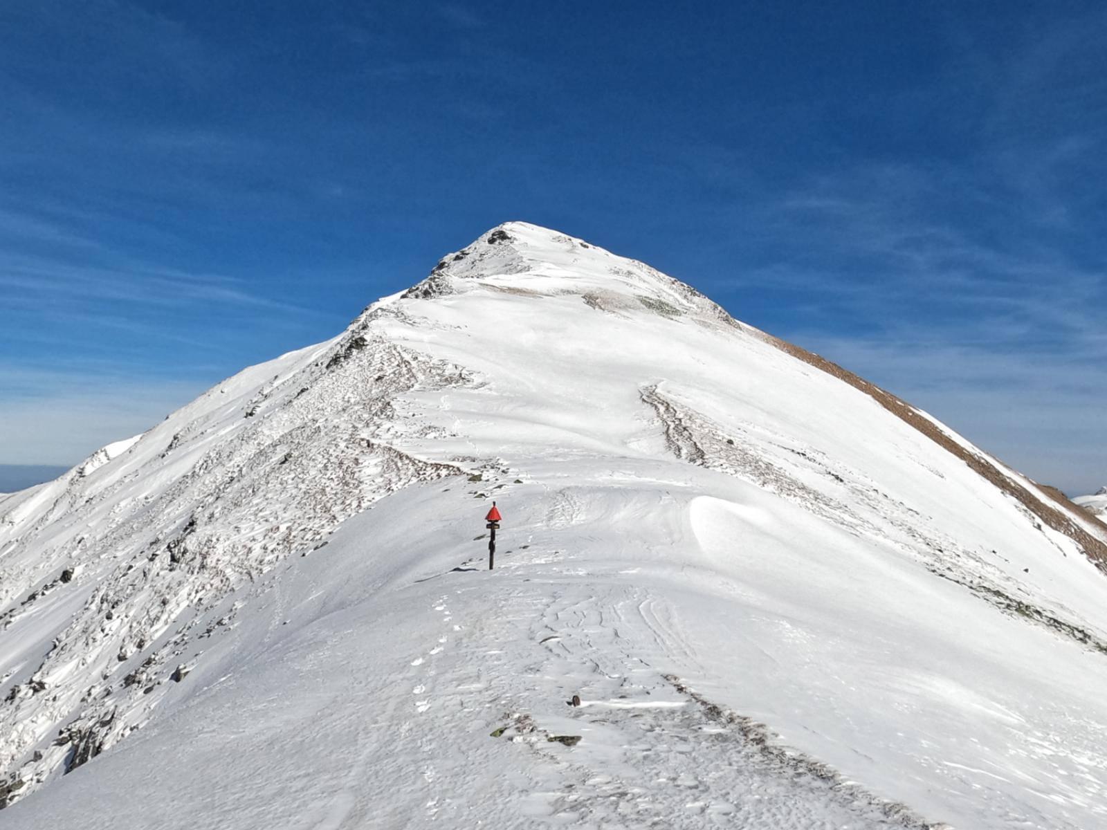 Jamnicka Przełęcz w zimowych warunkach