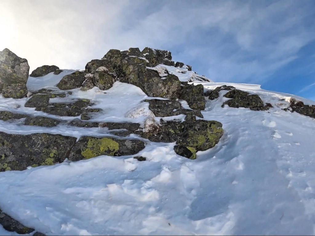 Rohacz Ostry, wejście w zimie