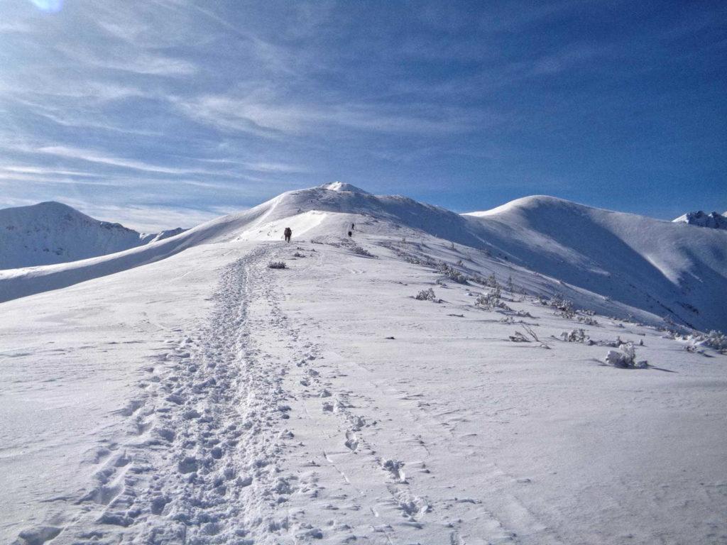 Szlak na Rakoń w zimie