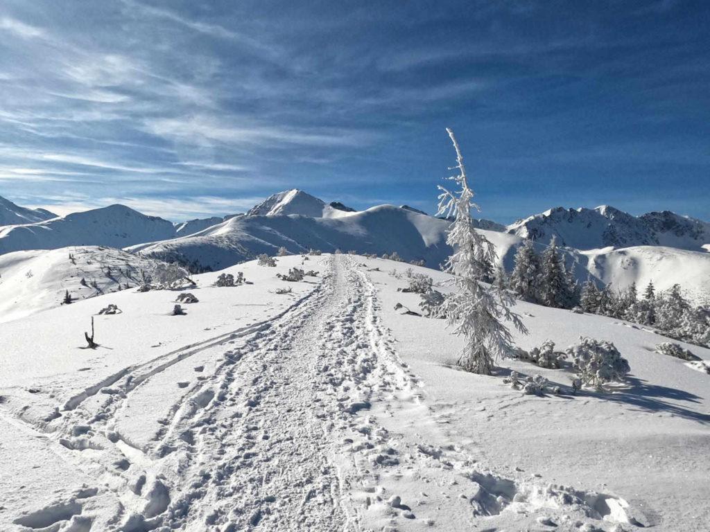 Szlak na Rakoń zimą