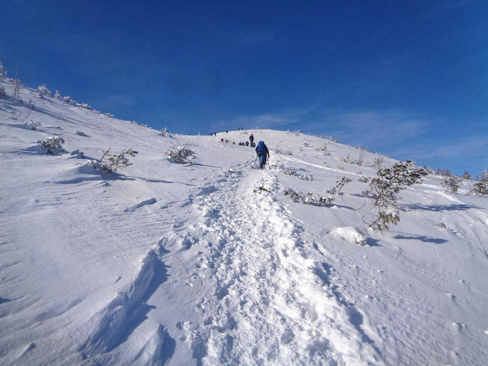 Wejście na Grzesia zimą