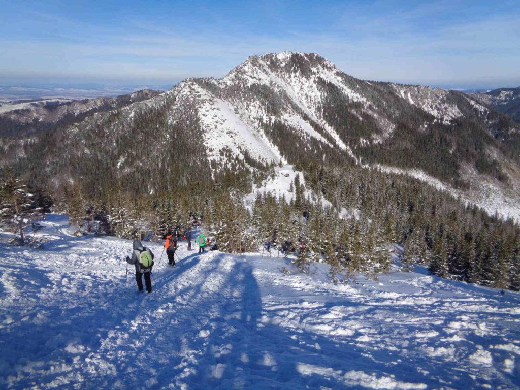 Zejście z Grzesia zimą