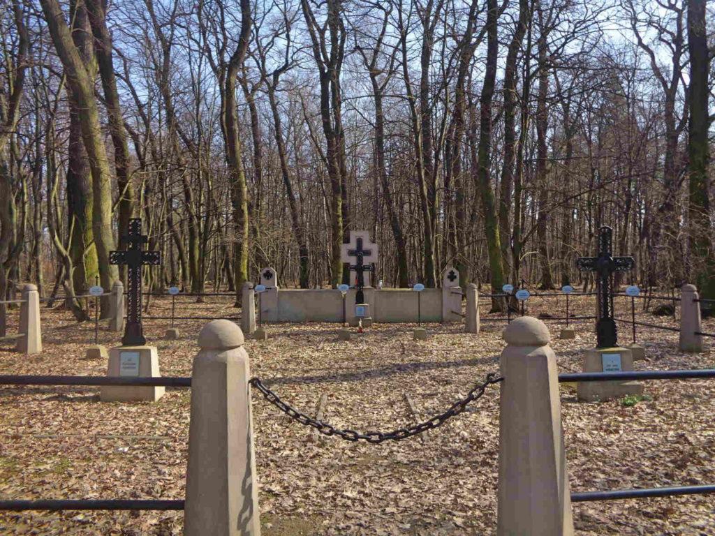 Puszcza Niepołomicka, cmentarz w Poszynie