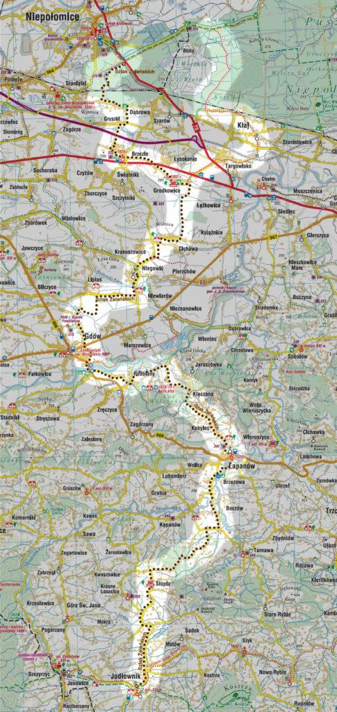 Szlak Żeleńskich, mapa