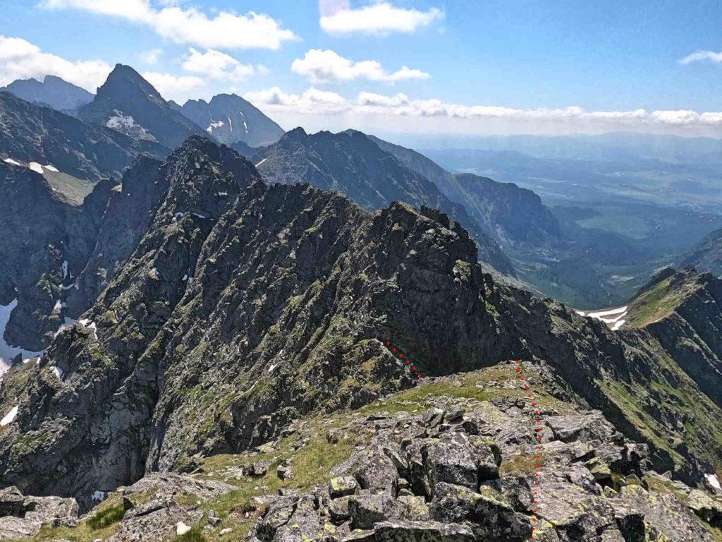 Zejście na Czarnostawiańska Przełęcz