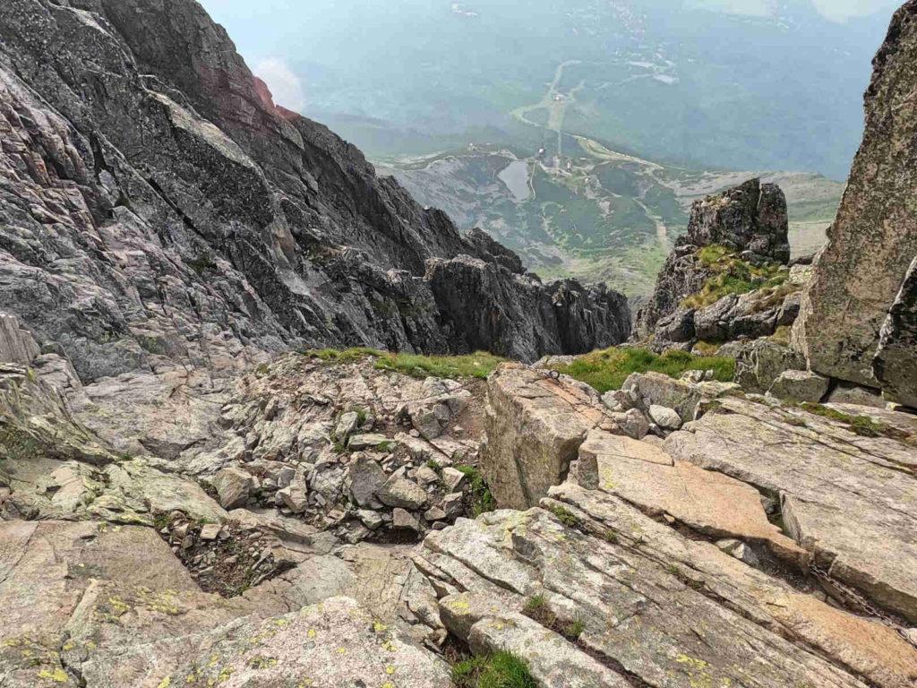 Łomnica, wejście drogą od przełęczy