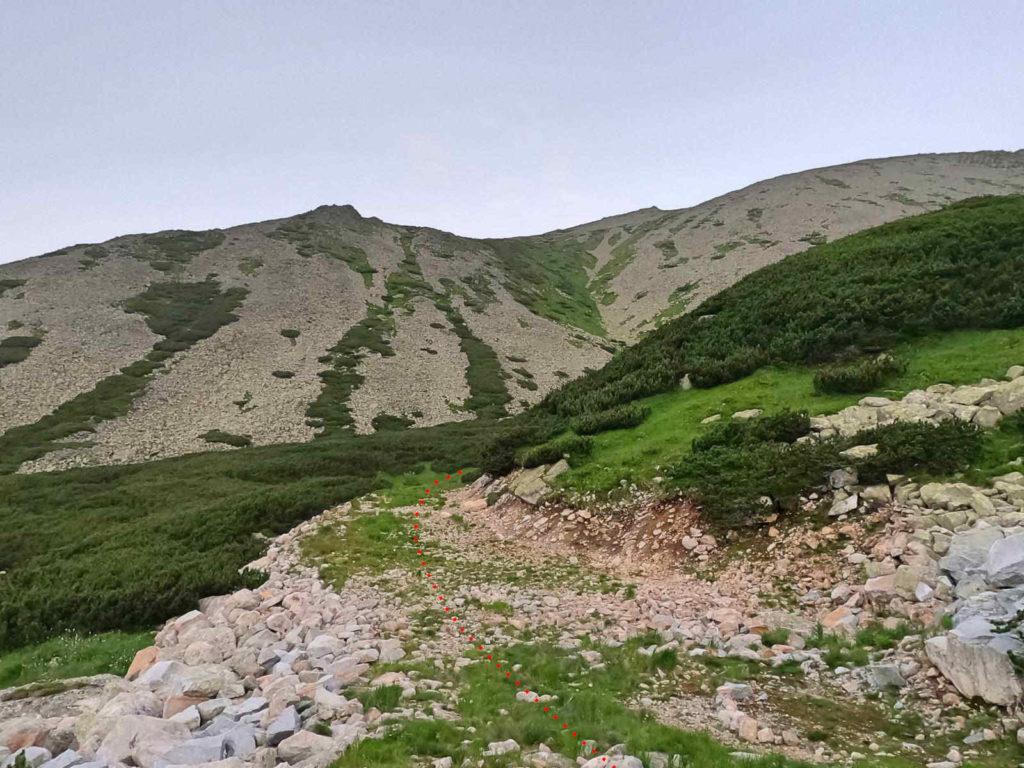 Łomnicka Przełęcz, droga