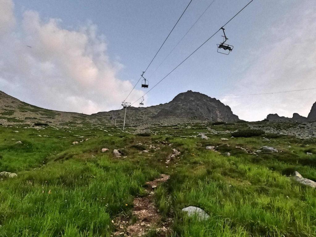 Wejście na Łomnicką Przełęcz