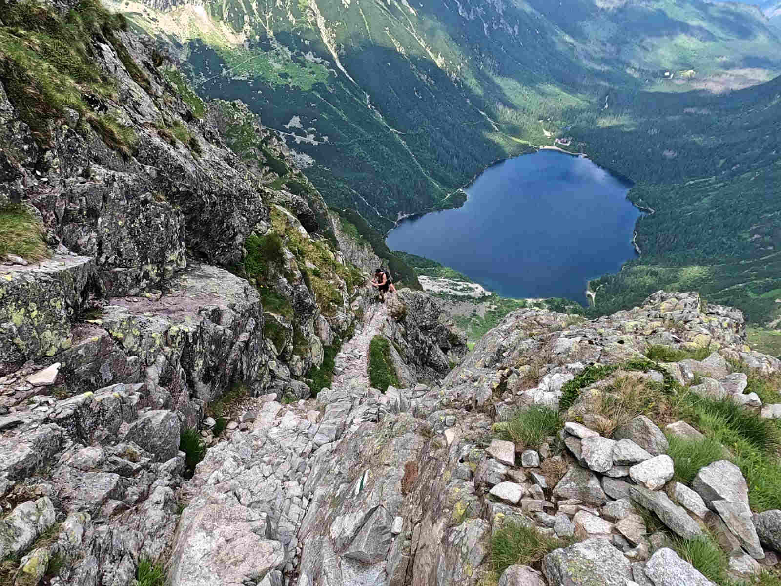 Szlak na Przełęcz pod Chłopkiem, łańcuchy