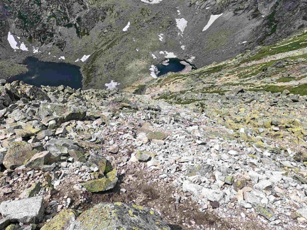 Szczyrbski Szczyt, zejście nad Capi Staw