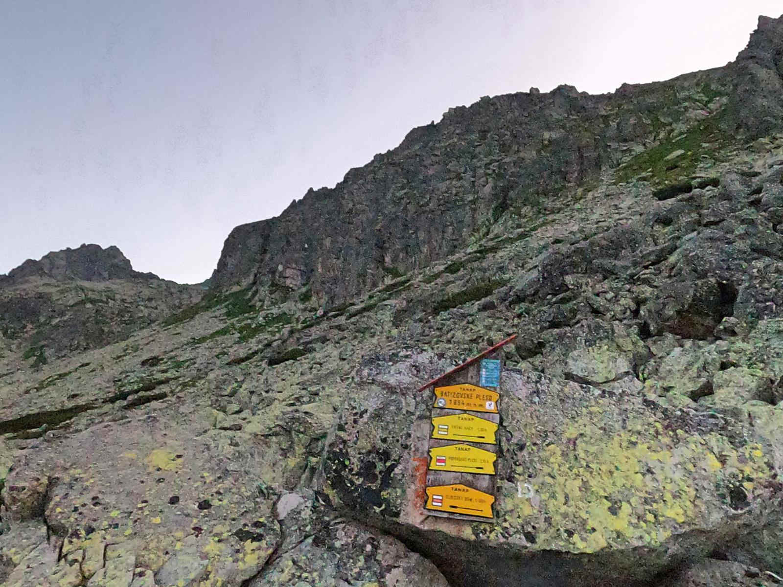 Batyżowiecki Staw, żółty szlak