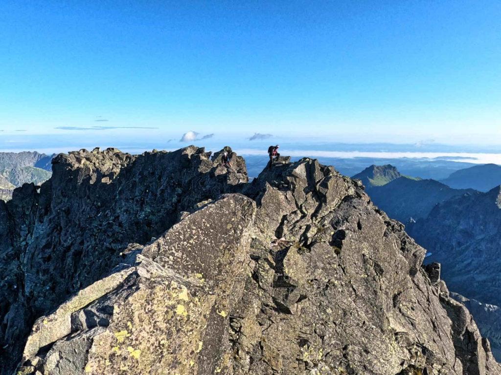 Gerlach, widok ze szczytu