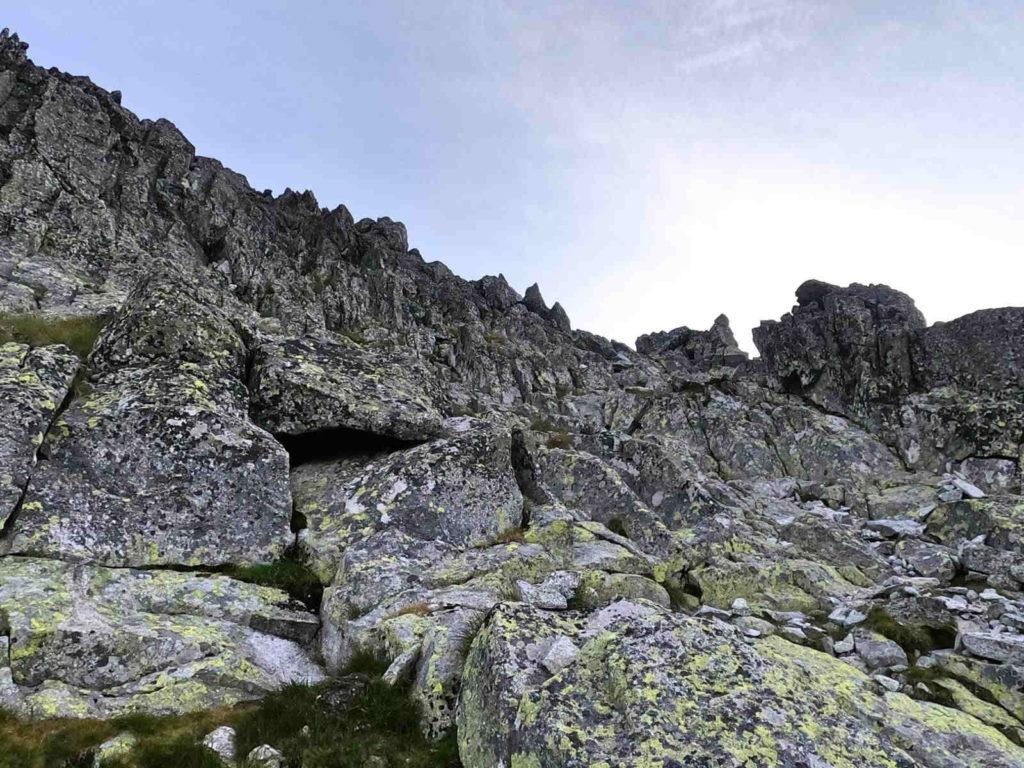 Kończysta, wejście od Przełęczy pod Osterwą