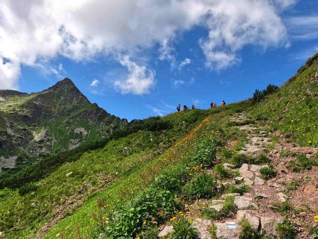 Przełęcz pod Kopą z Doliny Białych Stawów
