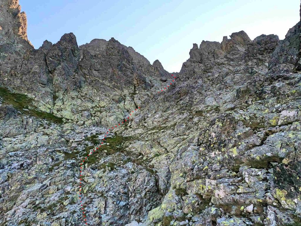 Staroleśny Szczyt, droga od Doliny Wielickiej