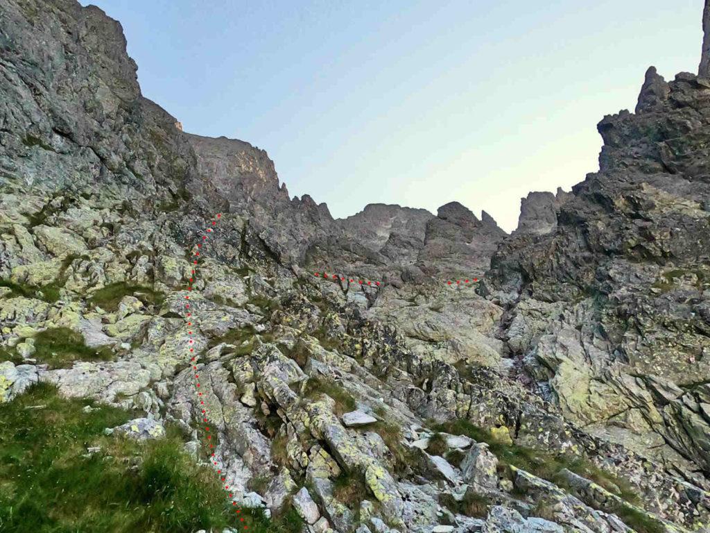 Staroleśny Szczyt, droga z Doliny Wielickiej