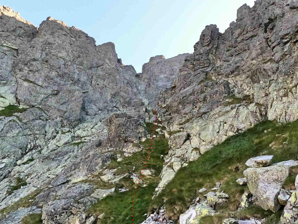 Staroleśny Szczyt, wejście od Doliny Wielickiej