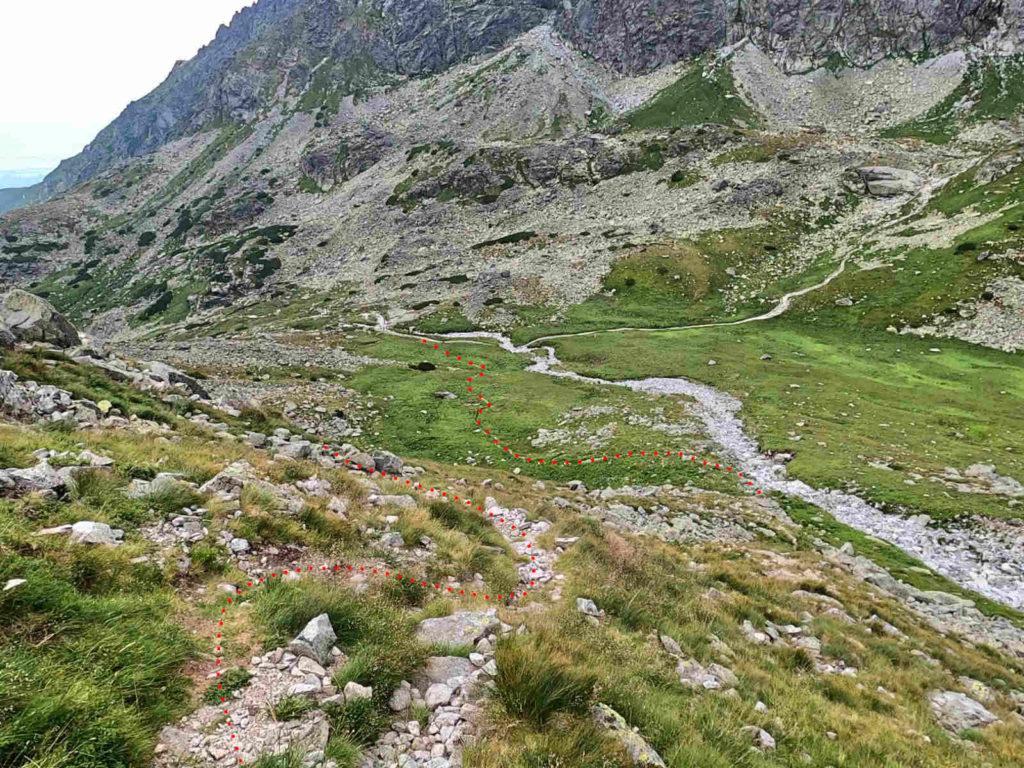 Staroleśny Szczyt, zejście do Doliny Wielickiej