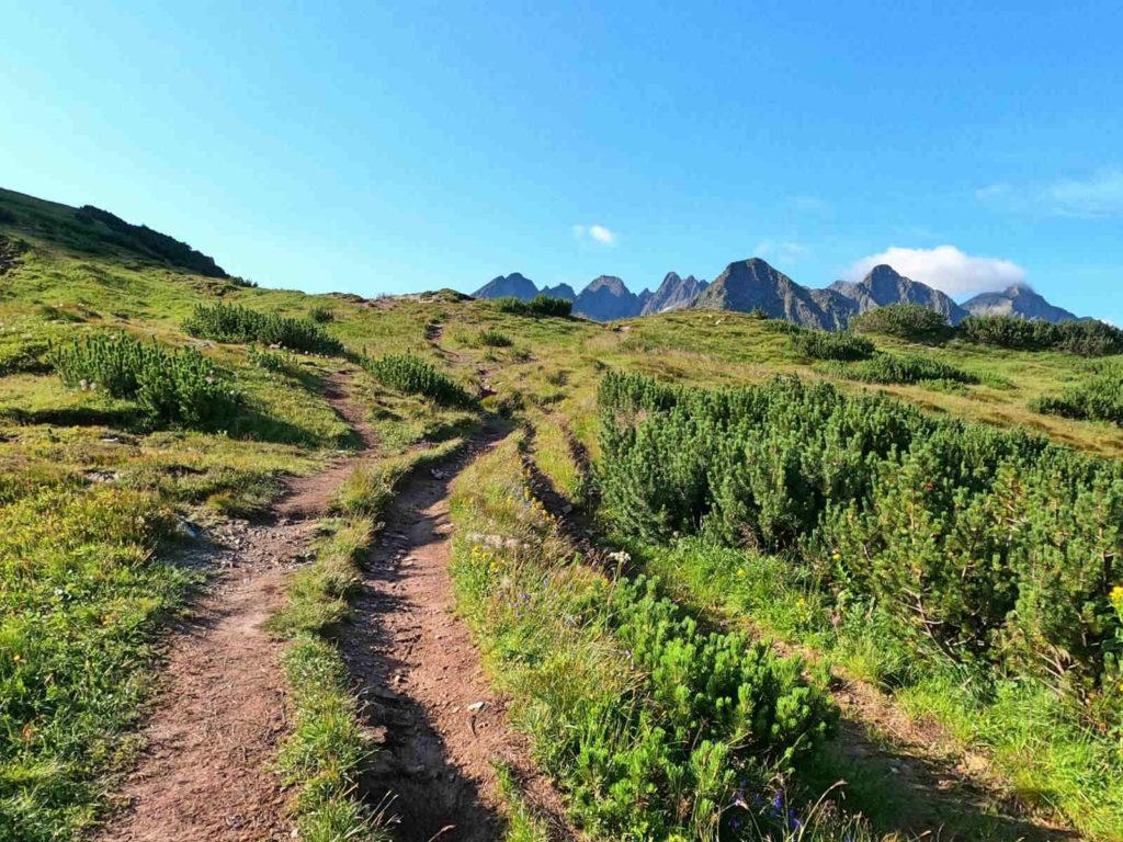 Szeroka Przełęcz, czerwony szlak