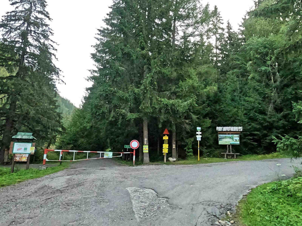 Dolina Żarska, wejście