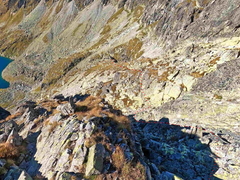 Mięguszowiecki Szczyt Wielki, powrót do Hińczowej Przełęczy