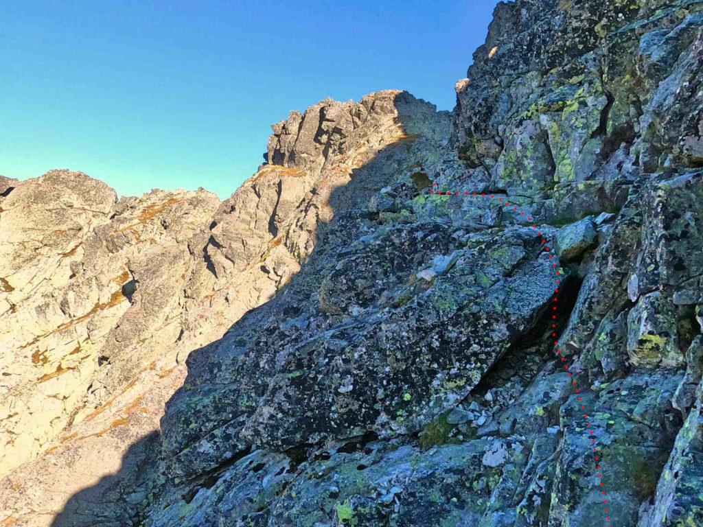 Mięguszowiecki Szczyt Wielki, powrót na Hińczową Przełęcz