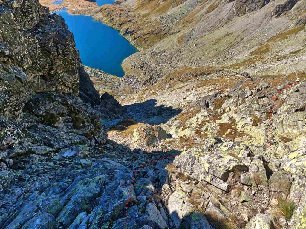 MSW, zejście do Hińczowej Przełęczy