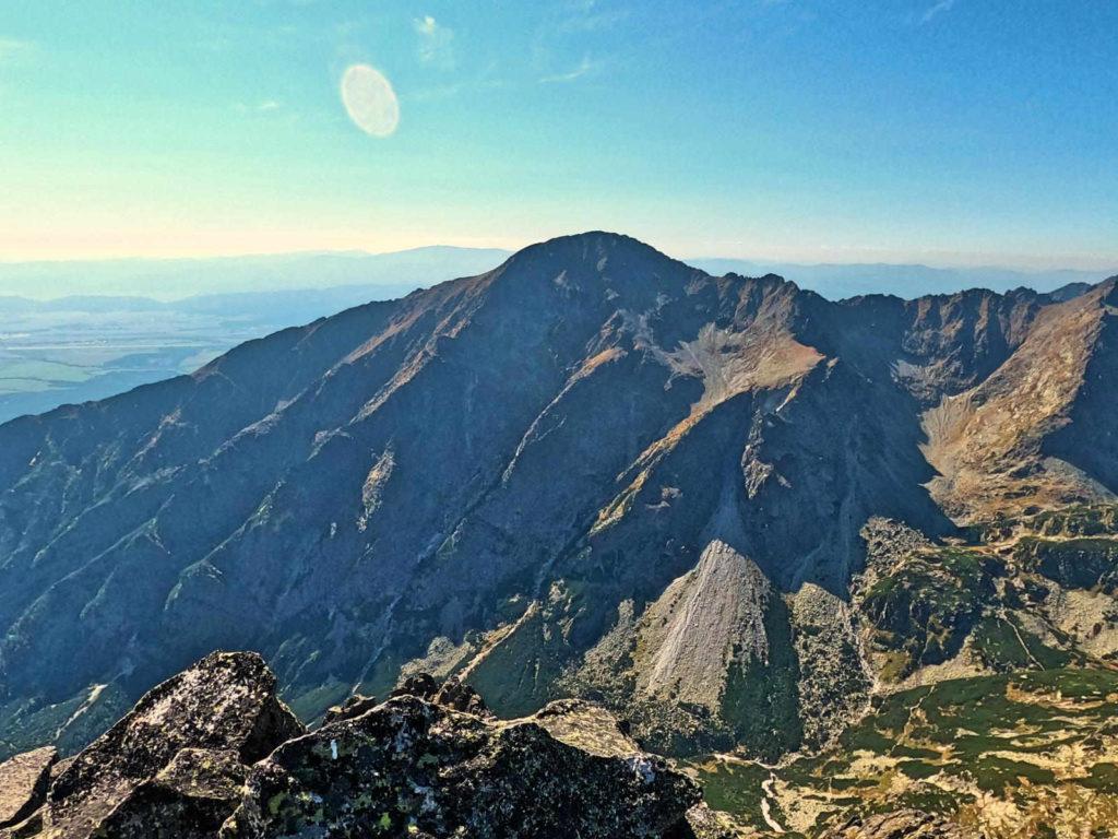 Widoki ze szczytu Pośredniej Grani