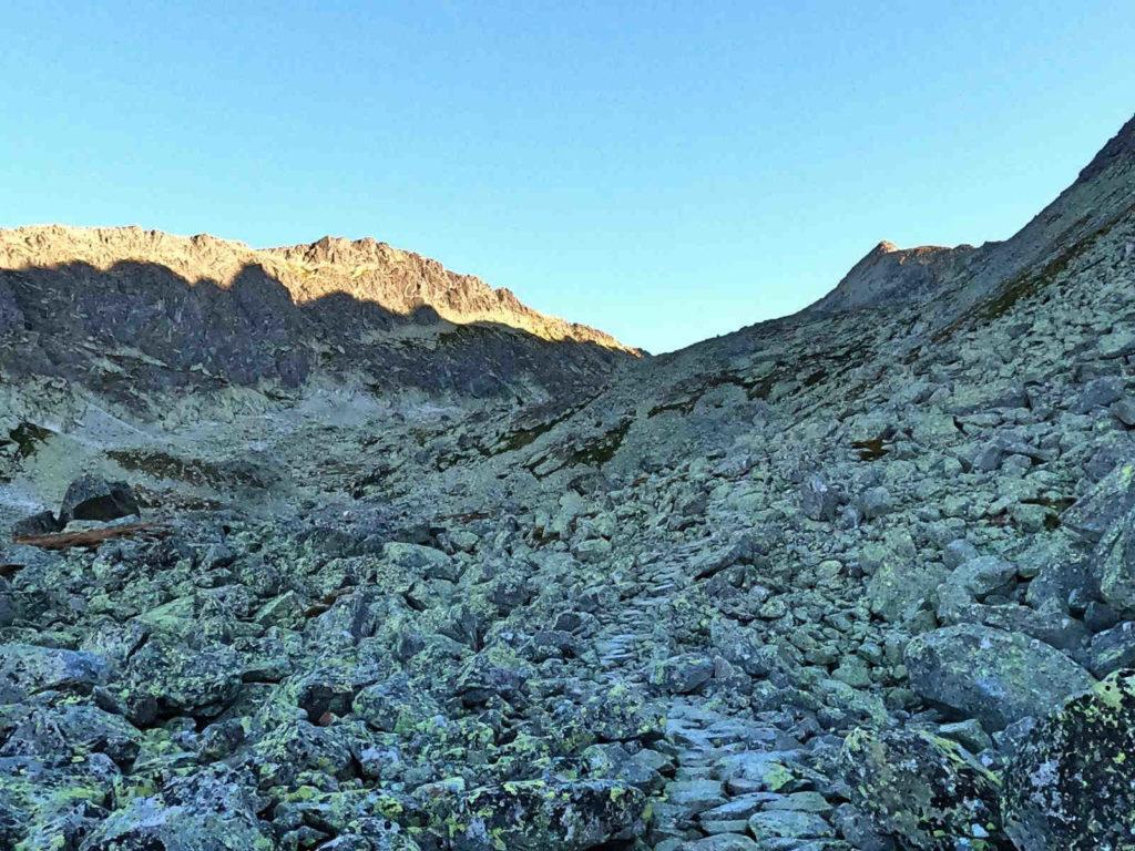 Dolina Furkotna, żółty szlak