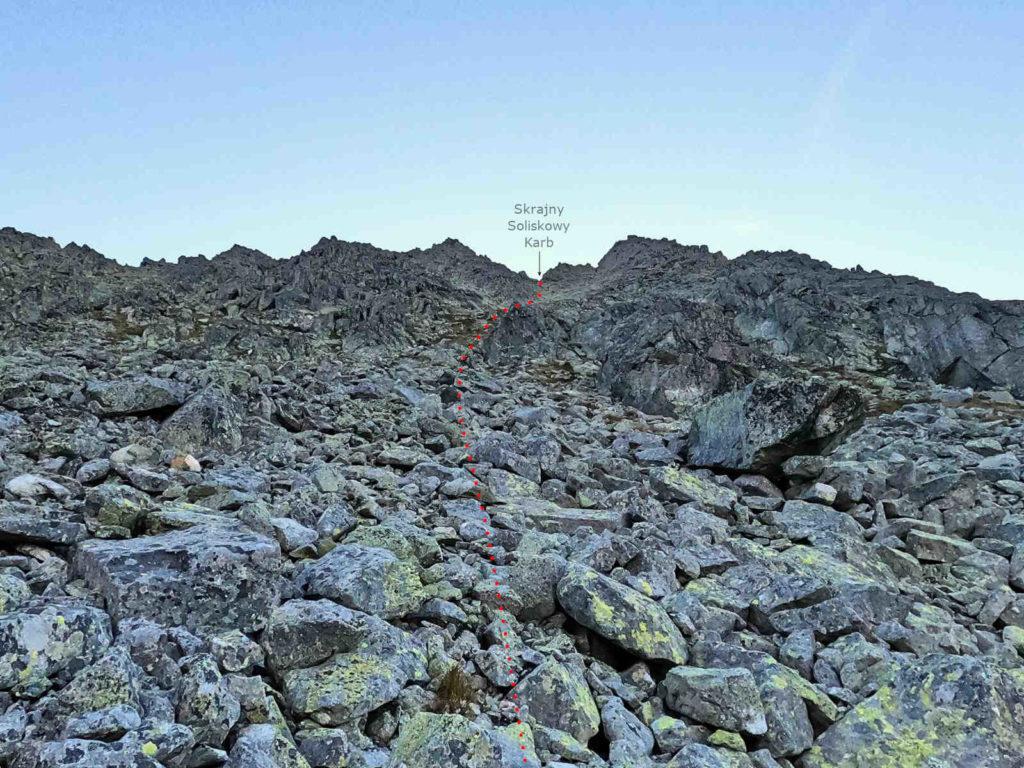 Wielkie Solisko, droga od Doliny Furkotnej