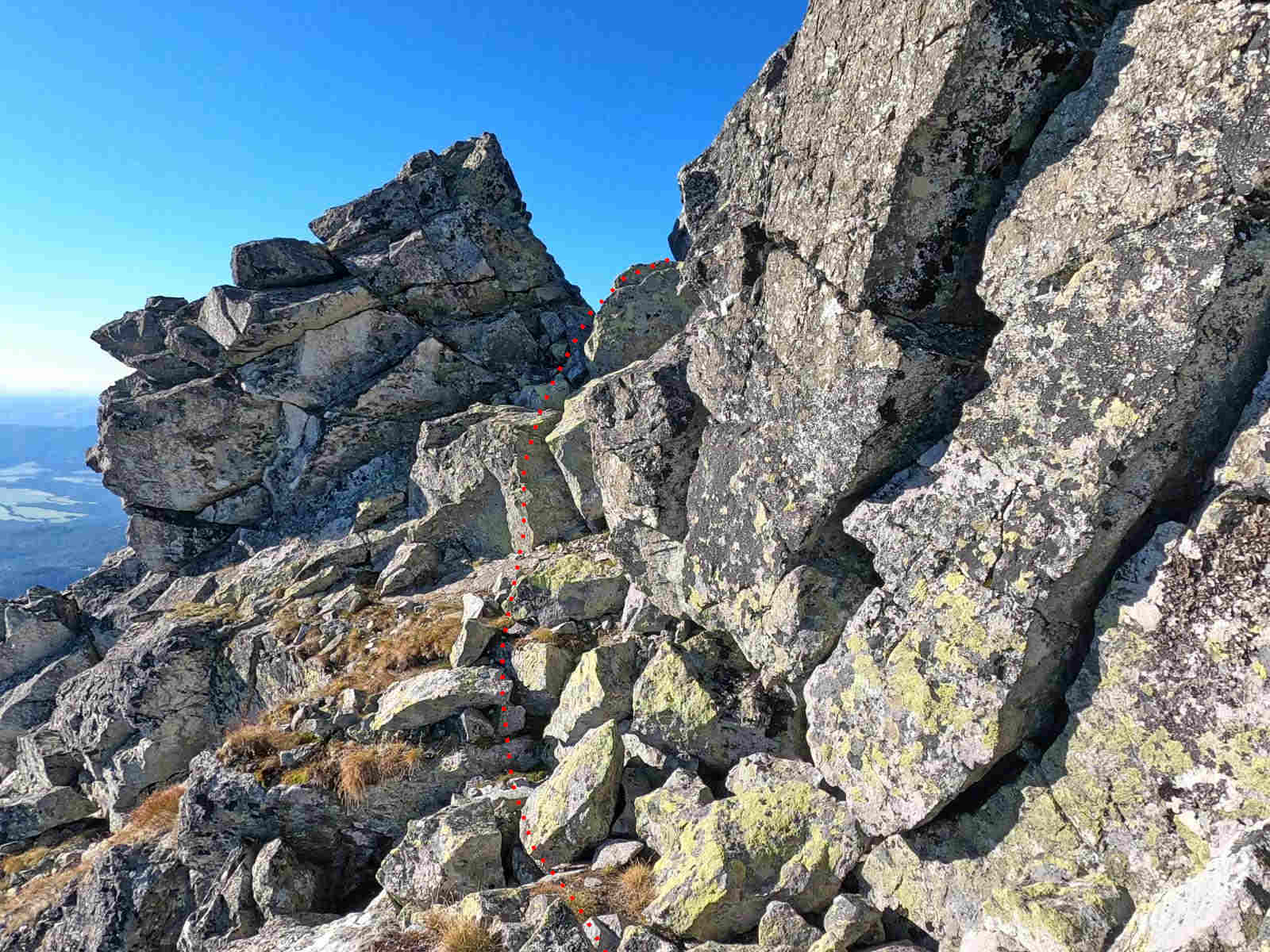 Wielkie Solisko, wejście na szczyt