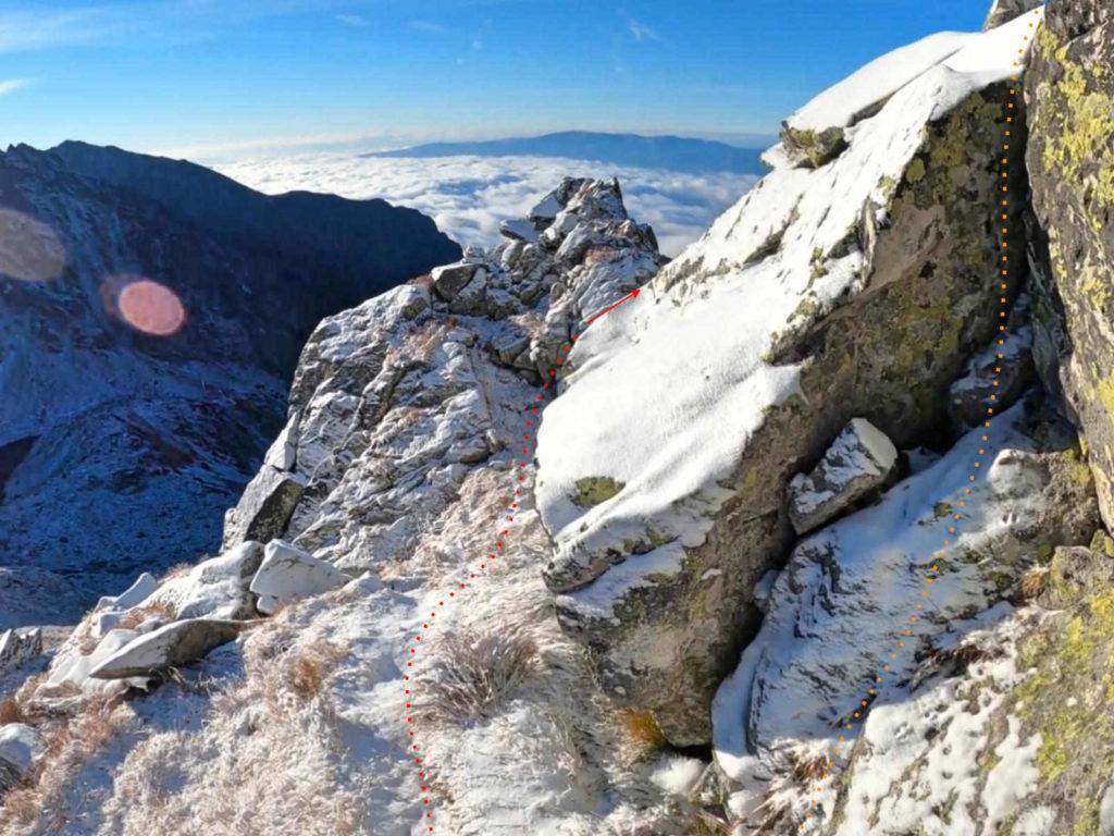 Wołowiec Mięguszowiecki, wejście na szczyt