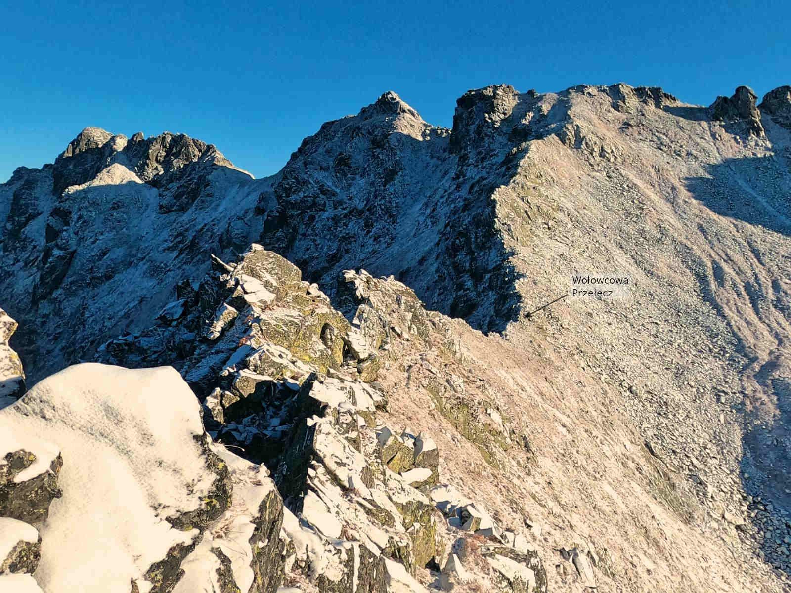 Zejście na Wołowcową Przełęcz